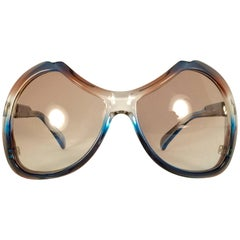 New Vintage Menrad Multicolour Silver Funk Germany 1970 Sunglasses