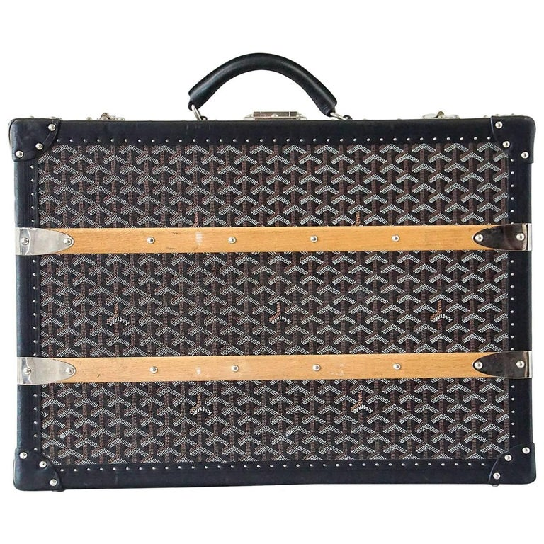 Goyard Trunk Black And Brown Signature Monogram Palladium Fittings - How to create a paypal invoice goyard online store