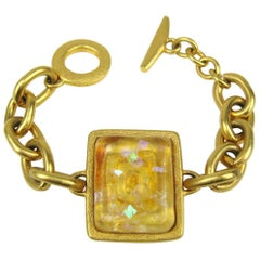 Bob House Gold Speckle Glass Bracelet & Earrings set