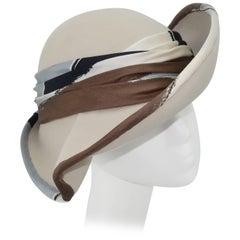 Stylized C.1970 Italian Broad Brimmed Hat