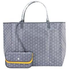 Goyard Grey St Louis Tote Bag GM Chevron