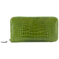 Hermes Green Crocodile Wallet