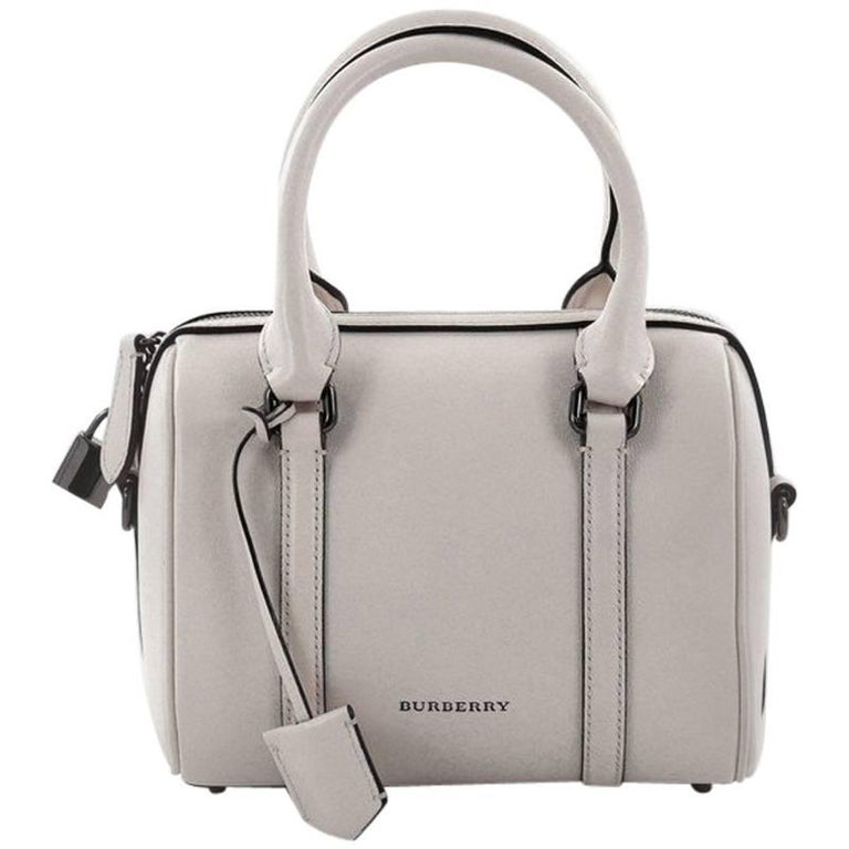 Burberry Alchester Convertible Satchel Leather Small