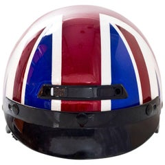 Marc Jacobs Red White and Blue Union Jack British Flag Riding Helmet Sz M