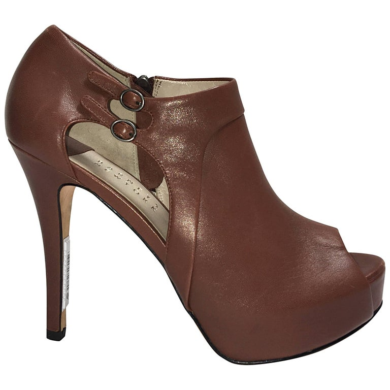 Barneys New York Peeptoe Bootie
