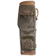 Really Used Vintage Louis Vuitton Golf Club Bag in Monogram Canvas.