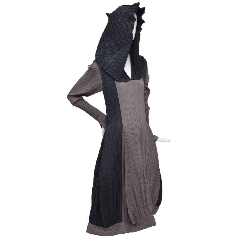 Issey Miyake Bi-Color Vintage Dress   For Sale
