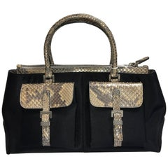 Tods Satin and Snakeskin Bag
