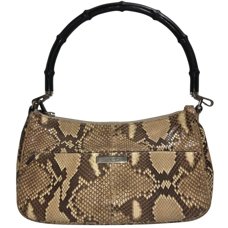 7c84a348fd3 Gucci Python Handbag For Sale at 1stdibs