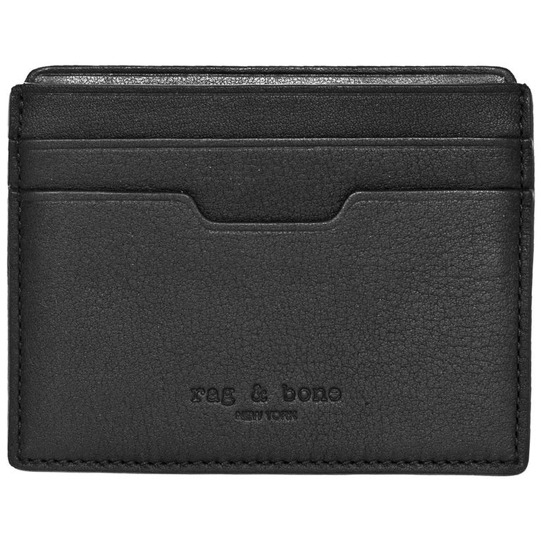 Rag & Bone Black Leather Card Holder For Sale