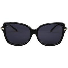 CHROME HEARTS Black Acetate & Sterling Silver MS-FERNAKTE Sunglasses