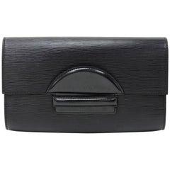 Louis Vuitton Vintage Pochette Chaillot Black Epi Leather Clutch Bag