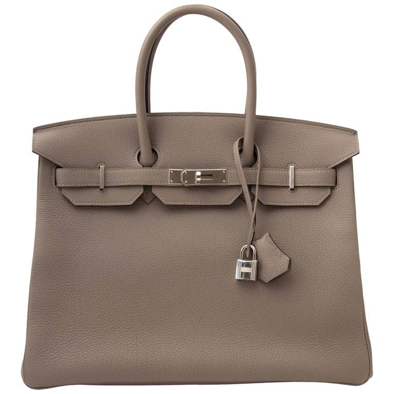 Hermès Birkin 35 Togo Gris Asphalte PHW