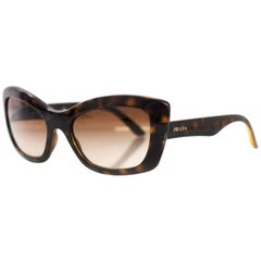 Prada Brown Tortoise Sunglasses with Case