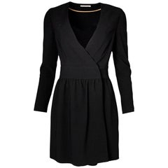 Celine Black Wrap Dress Size FR40