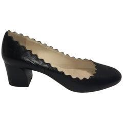 Chloe Scallop Trim Block Heels