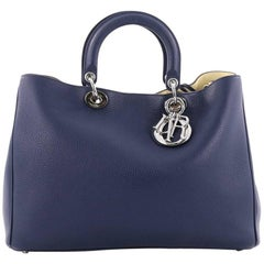 Christian Dior Diorissimo Tote Pebbled Leather Large