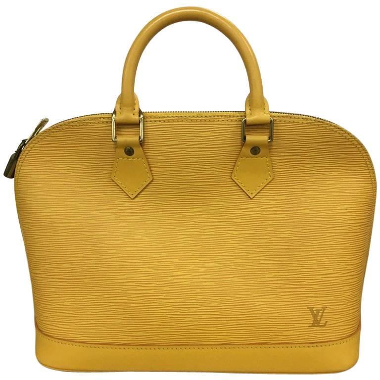 Louis Vuitton Vintage Louis Vuitton Yellow Epi Malesherbes Handbag. Classic Purse For Spring vwIlAiJ9FA