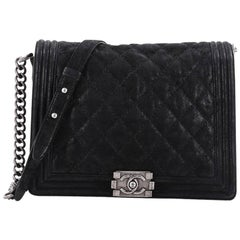 Chanel Boy Flap Bag Quilted Gentle Goatskin New Medium