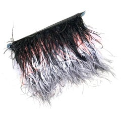 Ombre Feather Flip Clutch