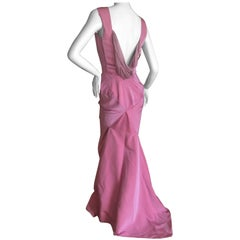 Vivienne Westwood Gold Label Rose Pink Evening Dress With Fishtail Train 2017