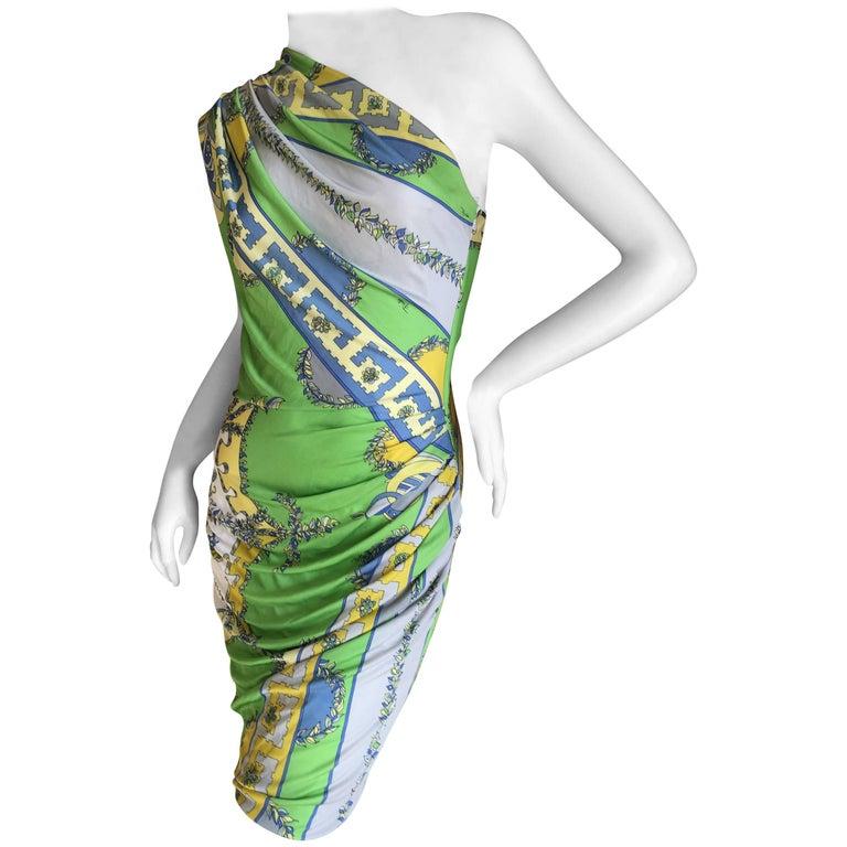 Emilio Pucci One Shoulder Mini Dress For Sale
