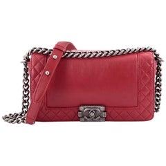 Chanel Reverso Boy Flap Bag Calfskin Old Medium