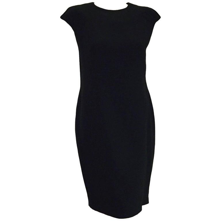 Alluring Alexander Mcqueen Little Black Dress With Pleated Cap