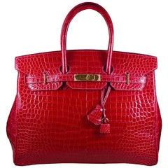 Hermes 35cm Red Birkin Bag