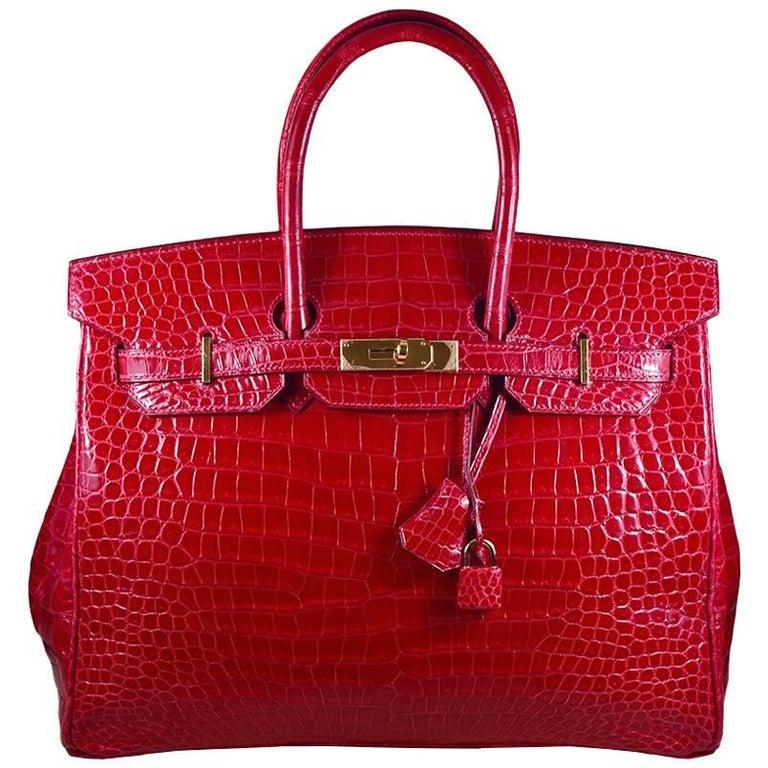 e4900fc7ef5b Hermes 35cm Red Birkin Bag For Sale at 1stdibs