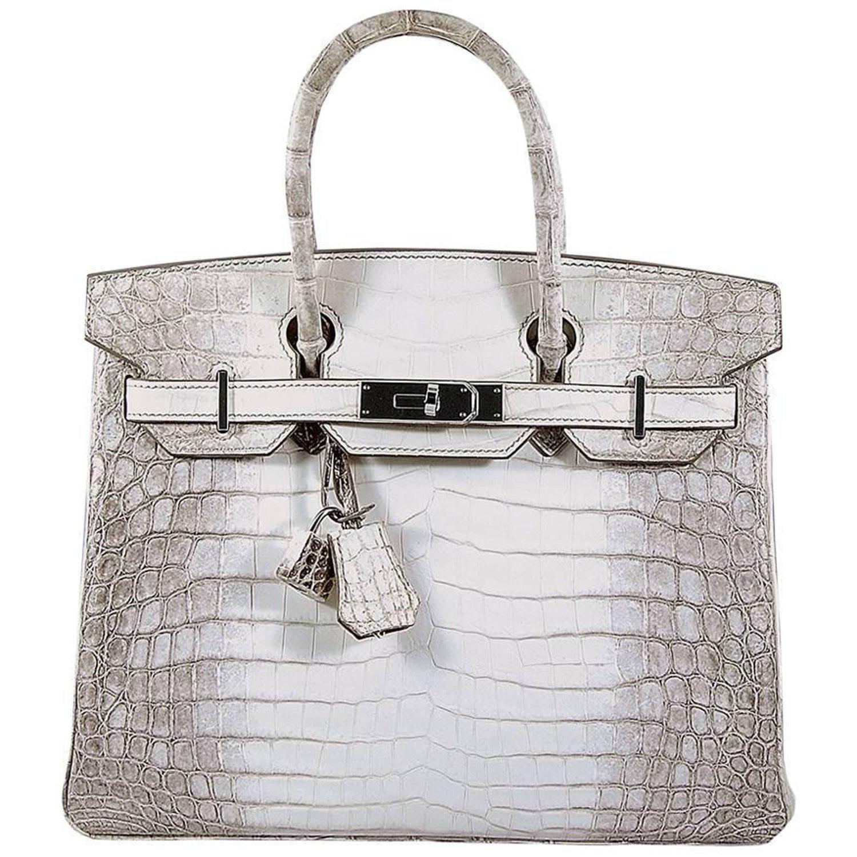 aa461266d5 Hermes 30cm Himalaya Crocodile Birkin Bag For Sale at 1stdibs