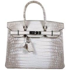 Hermes 30cm Himalaya Crocodile Birkin Bag