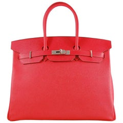 Hermes 35cm Rouge Casaque Birkin Bag