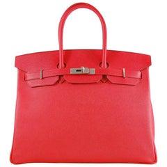 Hermes 35cm Rouge Casaque Birkin Tasche