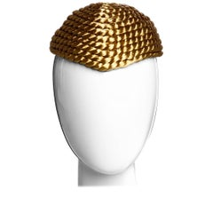 1980s Krizia Coiled Gold Rope Hat