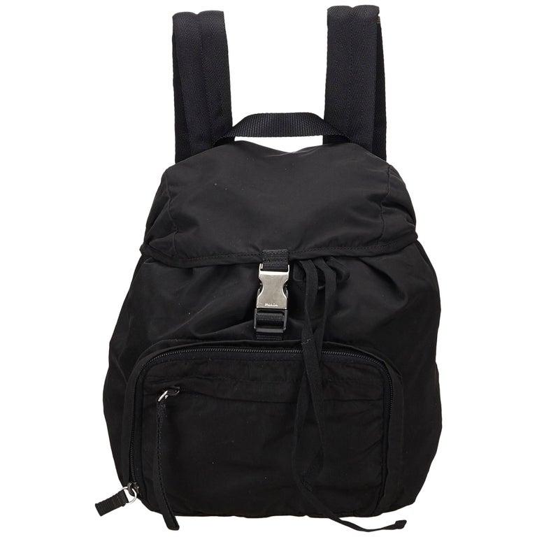 75b2c5d25275 Prada Black Nylon Backpack For Sale at 1stdibs