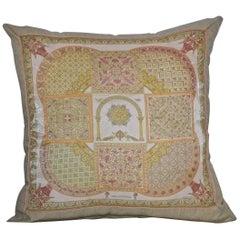"Vintage Hermès Custom Scarf Pillow  ""Cicis Byzantins"""