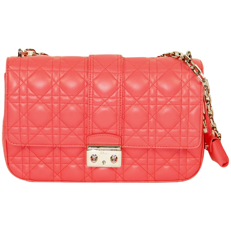 CHRISTIAN DIOR Miss Dior Pink Quilted Leather Shoulder Bag
