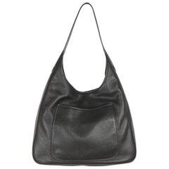 Prada Black Vitello Daino Leather Hobo Bag, 1BC013