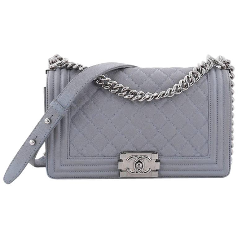 33e145cd8207 Chanel Boy Flap Bag Quilted Caviar Old Medium at 1stdibs