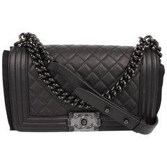 "Chanel ""So Black!"" Medium black Boy Bag"