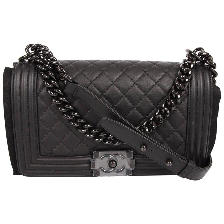 """Chanel """"So Black!"""" Medium black Boy Bag"""