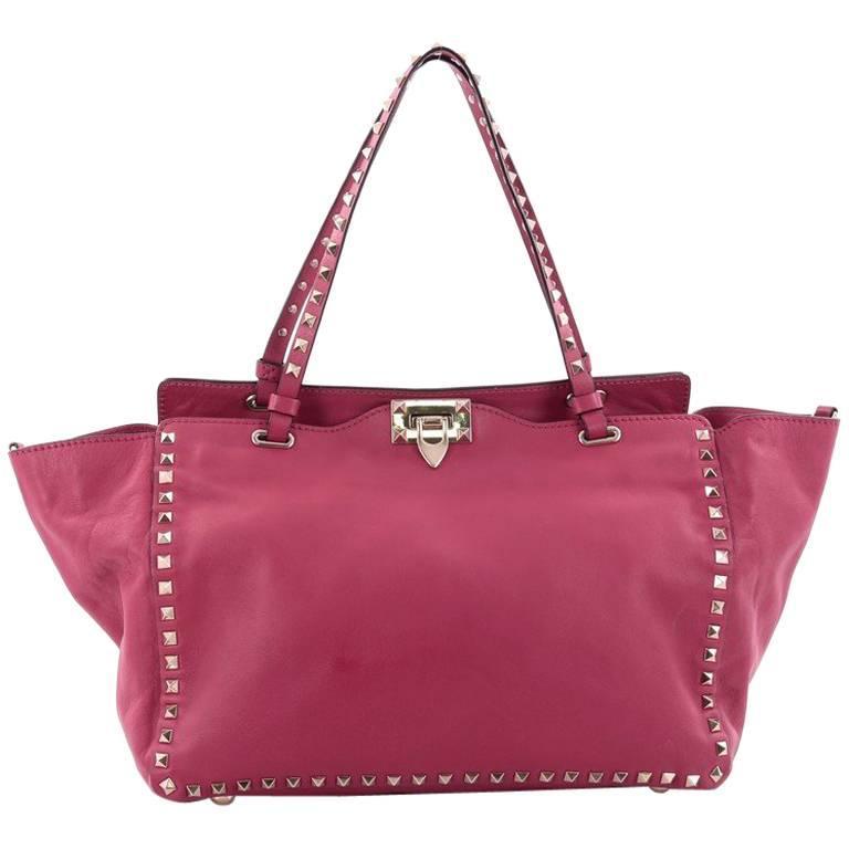 Valentino Rockstud Tote Soft Leather Medium