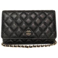 Chanel Caviar WOC Black Bag (Size - OS)