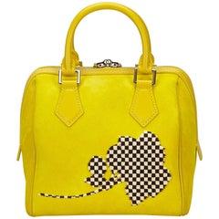 Louis Vuitton Yellow Speedy Cube PM Fleur