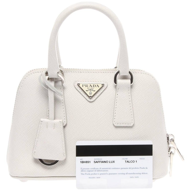 5cb2fd7070c8 Prada Saffiano Lux Mini Promenade Bag at 1stdibs