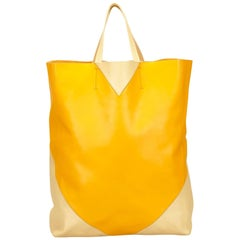Celine Yellow Vertical Cabas Tote