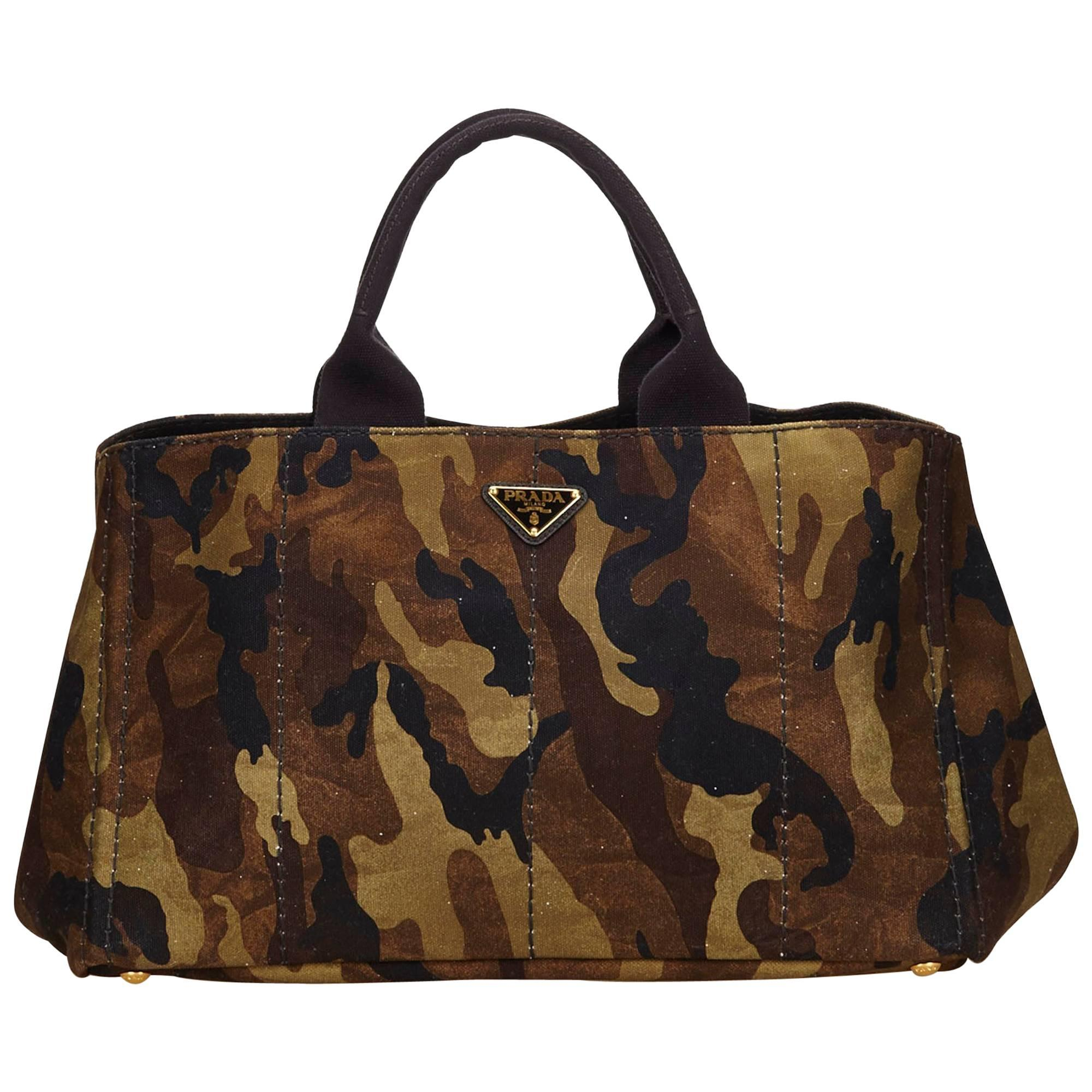 32d9644528fa amazon prada olive green nylon handbag efd8c 36a00  usa prada green x brown  camouflage canvas canapa tote for sale 9b29f 2e787