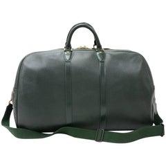 Louis Vuitton Kendall GM Green Taiga Leather Travel Bag