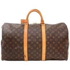 Louis Vuitton Vintage Keepall 50 Monogram Canvas Duffle Travel Bag